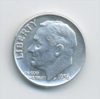 USA 1 Dime 1956 - Émissions Fédérales