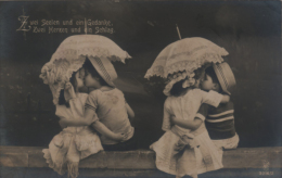 2 German B&W Postcards - Two Pairs Of Children In Love - RPH 3216/2 & 3216/3 (1914) - Enfants