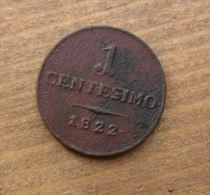 MONETA DEL REGNO LOMBARDO VENETO 1 CENTESIMO DEL 1822  -