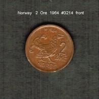 NORWAY    2  ORE  1964  (KM # 410) - Norway
