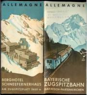Allemagne -Ancien Dépliant - La Zugspitz - Par Chemin De Fer. - Collections
