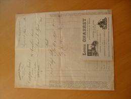 Facture +carte  Pub Illustrées Béziers 1916. Louis Charrey Constructeur Mécanicien Tacots.pompes à Pressoir Et Chapelet - Automobile