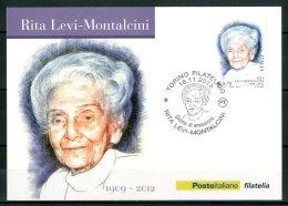 ITALIA / ITALY 2013 - Rita Levi - Montalcini - Cartolina Maximum Card - Prix Nobel