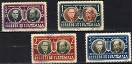 GUATEMALA - 1953 - OMAGGIO AGLI AUTORI DELL´INNO NAZIONALE DEL GUATEMALA - RAFAEL OVALLE E JOAQUIN PALMA - Guatemala