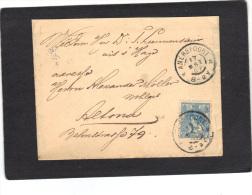 Pays Bas Lettre De 1902 Amersfoort Pour Alsace Allemagne - Brieven En Documenten