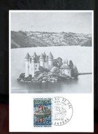 Carte  Premier Jour 1er Fdc  Maximum Le Chateau De Val 1966 Lanobre - 1960-69