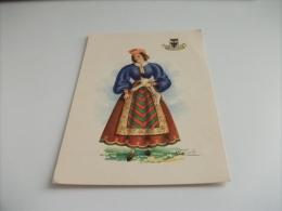Illustratore A. Carini Costume Donna Abruzzo Molise - Costumes