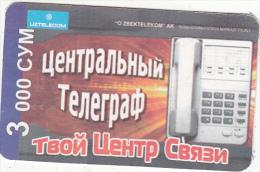 UZBEKISTAN - Telephone, Uzbek Telecom Prepaid Card 3000 CYM, Used - Uzbekistan