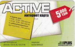 UZBEKISTAN - Active, IPlus Internet Prepaid Card 5000 Cym, Used - Uzbekistan