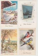 7 OUDE ANSICHTEN (vanaf 1953 ):  ´Zalig Nieuwjaar´ Met Postzegel - Nederland/Holland - Nieuwjaar
