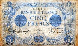 5 FR BLEU NOVEMBRE 1912 - 1871-1952 Antiguos Francos Circulantes En El XX Siglo
