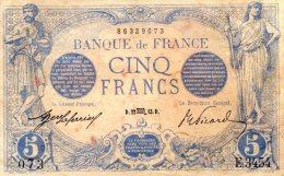 5 FR BLEU OCTOBRE 1913 TTB - 5 F 1912-1917 ''Bleu''