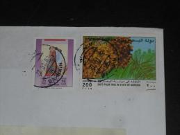 LETTRE BAHRAIN AVEC YT 382 ET 543 - EMIR CHEIKH ISA BEN SALMAN AL KHALIFA - FLORE ARBRE PALMIER DATTIER - Bahreïn (1965-...)