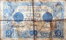5 FR BLEU FEVRIER 1916 - 1871-1952 Antiguos Francos Circulantes En El XX Siglo