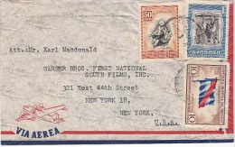 Uraguay Airmail Cover To USA,  Flags    (Z-796) - Uruguay