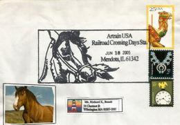 Cheval D'Artrain USA, Enveloppe Souvenir, Mendota , Illinois 2005 - Event Covers