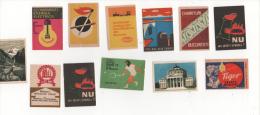 Alt421 Etichette Scatola Fiammiferi Matchbox Labels Allumettes Romania Politica Politic Sport Natura Safety Sicurezza - Scatole Di Fiammiferi - Etichette