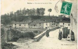 HAUTE VIENNE 87.BELLAC UN COIN DU BAS DE LA VILLE - Bellac