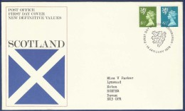 GREAT BRITAIN ENGLAND UK UNITED KINGDOM FDC FIRST DAY COVER 1976 SCOTLAND  NEW DEFINITIVE VALUE  POSTAL USED COVER - FDC