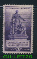 USA STAMPS - 75th ANNIVERSARY OF THE 13th AMENDMENT CONSTITUTION - 3ç CENTS -  1940 SCOTT No 902 - USED - - Etats-Unis