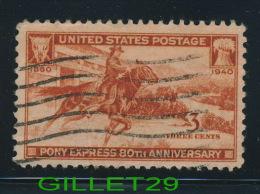 USA STAMPS - PONY EXPRESS 80th ANNIVERSARY 1860-1940  - 3ç CENTS - SCOTT No 894 - USED - - Etats-Unis