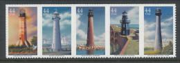 USA 2009 Scott 4409-4413a. Gulf Coast Lighthouses, Strip Of 5, MNH (**) - Nuovi