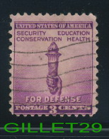 USA STAMPS - SECURITY, EDUCATION, CONSERVATION,HEALTH FOR DEFENSE - 3ç CENTS - 1938 SCOTT No 901 - USED - - Etats-Unis
