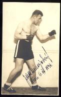 AK   BOX  BOXING     SIGNATURE   1934 - Boxsport