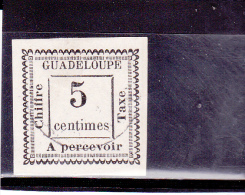 GUADELOUPE - Yvert N°TAXE 6 OBLITERE - COTE = 37 EUROS - - Guadalupe (1884-1947)