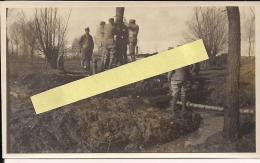 Muille Villette  Somme Construction D'un Ponceau  Vue Française   WWI Ww1 14-18 1.wk 1914-1918 Poilus - Guerre, Militaire