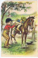 Illustration Germaine Bouret : C´est Le Gros Morceaux .... équitation,  Cheval , Editions E A E C Paris - Bouret, Germaine