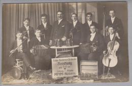 "Motiv Musik Ca. 1918 Erstes Bandoneon-Orchester ""Reinklang"" MHM-Neckarau A.Appler - Cartes Postales"
