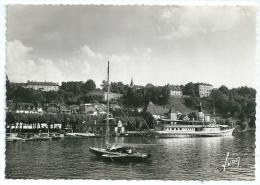 Cpsm: 74 THONON LES BAINS Le Port De Rives Et La Ville (Bateaux) N° 1950 - Thonon-les-Bains