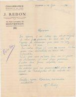 42 MONTBRISON COURRIER 1941 CHAUSSURES J. REDON   / T31 LOIRE - 1900 – 1949