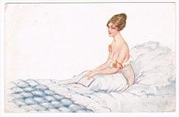 G56 - Illustratore Golia - Donna A Letto - Illustratori & Fotografie
