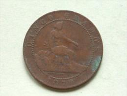 1870 OM - Cinco Centimos / KM 662 ( Voir Photo Pour Détail ) !! - [ 1] …-1931 : Royaume