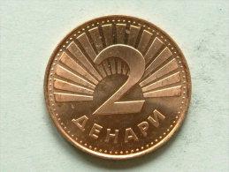 1993 - 2 DENARI / KM 3 ( For Grade, Please See Photo / Uncleaned Coin ) !! - Macédoine