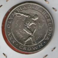 GIBRALTAR *** 1 Crown / Corona  1991 ***  Barcelona Olympics 1992 - Cu-Ni - 38.8 Mm - KM# 66 - Gibraltar