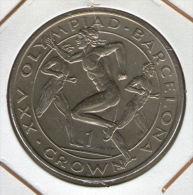 GIBRALTAR *** 1 Crown / Corona  1991 ***  Barcelona Olympics 1992 - Cu-Ni - 38.8 Mm - KM# 68 - Gibraltar