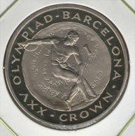 GIBRALTAR *** 1 Crown / Corona  1992 ***  Barcelona Olympics 1992 - Cu-Ni - 38.8 Mm - KM# 66 - Gibraltar