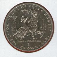 GIBRALTAR *** 1 Crown / Corona  1993 ***  Tales Of Peter Rabbit - Jemima Puddle-Duck - Cu-Ni - 38.8 Mm - KM# 221 - Gibraltar