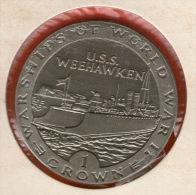 GIBRALTAR *** 1 Crown / Corona  1993 ***  Warships Of WWII - USS Weehawken - Cu-Ni - 38.8 Mm - KM# 116 - Gibraltar