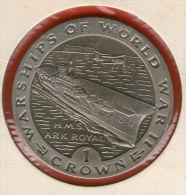 GIBRALTAR *** 1 Crown / Corona  1993 ***  Warships Of WWII - HMS Ark Royal - Cu-Ni - 38.8 Mm - KM# 121 - Gibraltar