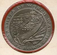 GIBRALTAR *** 1 Crown / Corona  1993 ***  Warships Of WWII - HMS Hood- Cu-Ni - 38.8 Mm - KM# 118 - Gibraltar