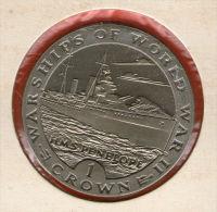 GIBRALTAR *** 1 Crown / Corona  1993 ***  Warships Of WWII - HMS Penelope- Cu-Ni - 38.8 Mm - KM# 119 - Gibraltar