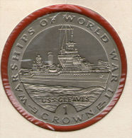 GIBRALTAR *** 1 Crown / Corona  1993 ***  Warships Of WWII - USS Gleaves- Cu-Ni - 38.8 Mm - KM# 122 - Gibraltar