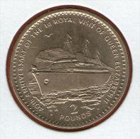GIBRALTAR *** 2 Pounds / Libras 1994 ***  40th Anniv. - Queen Elizabeth II's 1st Royal Visit - Virenium - KM# 325 - Gibraltar