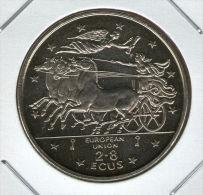 GIBRALTAR *** 2.8 / 2,8 ECU  1994 ***  Winged Victory Above Chariot - Cu-Ni -   KM# 489 - Gibraltar
