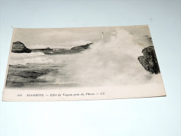 Carte Postale Ancienne : BIARRITZ : Effets De Vagues Sur Le Phare - Biarritz