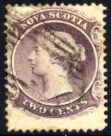 Nova Scotia #9 Used 2c Victoria From 1860-63 - Nova Scotia